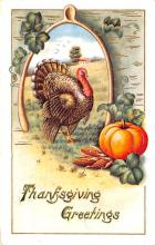 hol064111 - Thanksgiving Postcard Old Vintage Antique Post Card