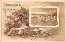hol064117 - Thanksgiving Postcard Old Vintage Antique Post Card