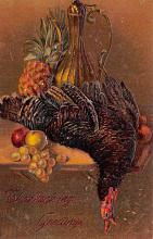 hol064119 - Thanksgiving Postcard Old Vintage Antique Post Card