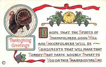 hol064131 - Thanksgiving Postcard Old Vintage Antique Post Card