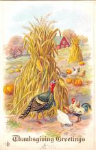 hol064137 - Thanksgiving Postcard Old Vintage Antique Post Card