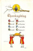 hol064139 - Thanksgiving Postcard Old Vintage Antique Post Card