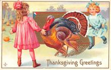hol064141 - Thanksgiving Postcard Old Vintage Antique Post Card