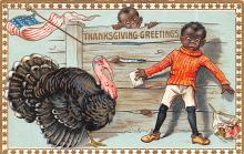 hol064157 - Thanksgiving Postcard Old Vintage Antique Post Card