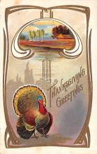hol064199 - Thanksgiving Postcard Old Vintage Antique Post Card