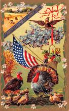 hol064201 - Thanksgiving Postcard Old Vintage Antique Post Card