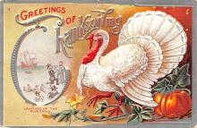 hol064211 - Thanksgiving Postcard Old Vintage Antique Post Card