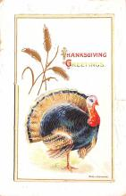 hol064219 - Thanksgiving Postcard Old Vintage Antique Post Card