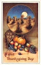 hol064225 - Thanksgiving Postcard Old Vintage Antique Post Card