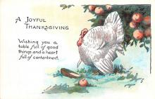 hol064227 - Thanksgiving Postcard Old Vintage Antique Post Card