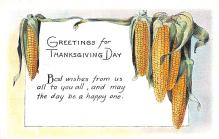hol064229 - Thanksgiving Postcard Old Vintage Antique Post Card