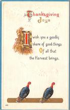 hol064233 - Thanksgiving Postcard Old Vintage Antique Post Card