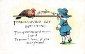 hol064235 - Thanksgiving Postcard Old Vintage Antique Post Card