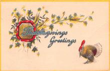 hol064247 - Thanksgiving Postcard Old Vintage Antique Post Card