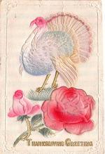 hol064255 - Thanksgiving Postcard Old Vintage Antique Post Card