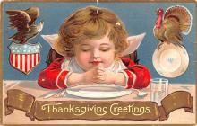 hol064259 - Thanksgiving Postcard Old Vintage Antique Post Card