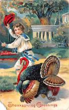hol064261 - Thanksgiving Postcard Old Vintage Antique Post Card
