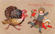 hol064263 - Thanksgiving Postcard Old Vintage Antique Post Card