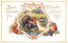 hol064265 - Thanksgiving Postcard Old Vintage Antique Post Card