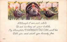 hol064281 - Thanksgiving Postcard Old Vintage Antique Post Card