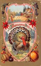 hol064285 - Thanksgiving Postcard Old Vintage Antique Post Card