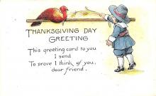 hol064291 - Thanksgiving Postcard Old Vintage Antique Post Card