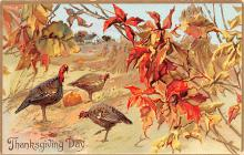 hol064297 - Thanksgiving Postcard Old Vintage Antique Post Card
