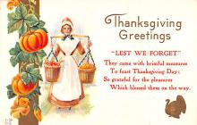 hol064303 - Thanksgiving Postcard Old Vintage Antique Post Card