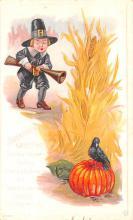 hol064305 - Thanksgiving Postcard Old Vintage Antique Post Card
