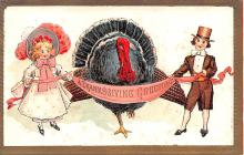 hol064311 - Thanksgiving Postcard Old Vintage Antique Post Card