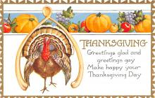hol064313 - Thanksgiving Postcard Old Vintage Antique Post Card
