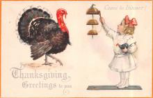 hol064315 - Thanksgiving Postcard Old Vintage Antique Post Card