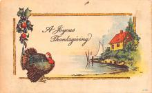 hol064323 - Thanksgiving Postcard Old Vintage Antique Post Card