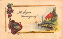 hol064329 - Thanksgiving Postcard Old Vintage Antique Post Card