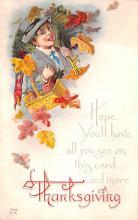 hol064333 - Thanksgiving Postcard Old Vintage Antique Post Card