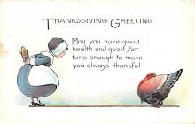 hol064335 - Thanksgiving Postcard Old Vintage Antique Post Card