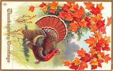 hol064343 - Thanksgiving Postcard Old Vintage Antique Post Card
