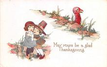 hol064345 - Thanksgiving Postcard Old Vintage Antique Post Card