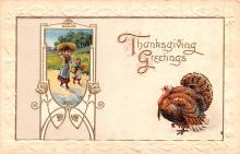 hol064347 - Thanksgiving Postcard Old Vintage Antique Post Card