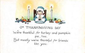 hol064349 - Thanksgiving Postcard Old Vintage Antique Post Card