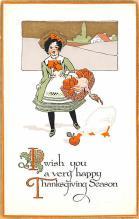 hol064351 - Thanksgiving Postcard Old Vintage Antique Post Card