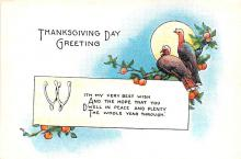 hol064355 - Thanksgiving Postcard Old Vintage Antique Post Card