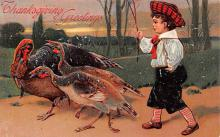 hol064357 - Thanksgiving Postcard Old Vintage Antique Post Card