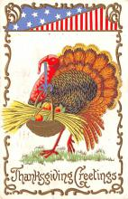 hol064361 - Thanksgiving Postcard Old Vintage Antique Post Card