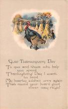 hol064363 - Thanksgiving Postcard Old Vintage Antique Post Card