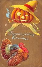 hol064365 - Thanksgiving Postcard Old Vintage Antique Post Card