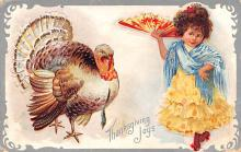hol064369 - Thanksgiving Postcard Old Vintage Antique Post Card
