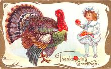 hol064375 - Thanksgiving Postcard Old Vintage Antique Post Card