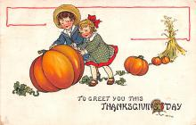 hol064381 - Thanksgiving Postcard Old Vintage Antique Post Card