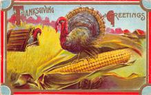 hol064385 - Thanksgiving Postcard Old Vintage Antique Post Card